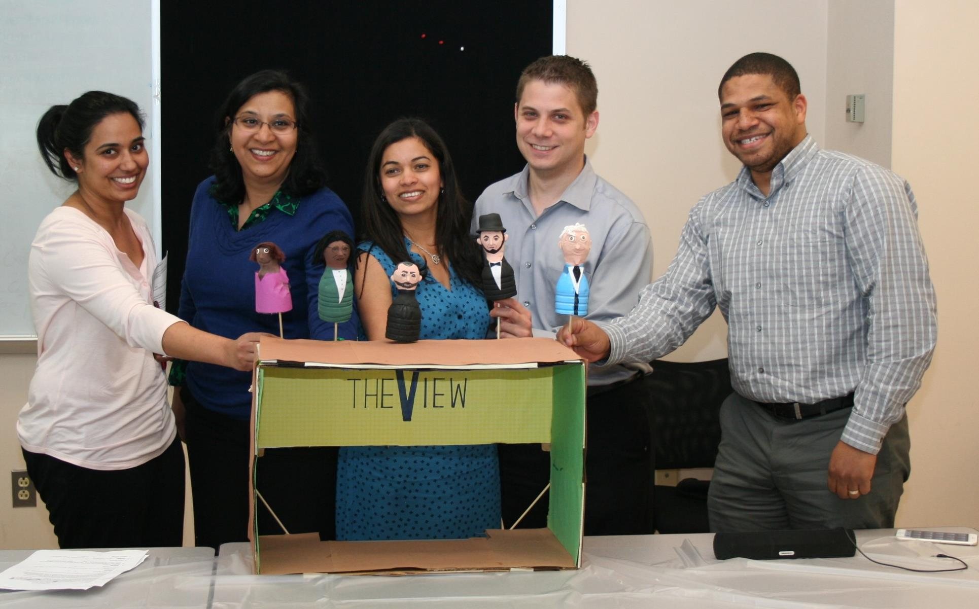 Members of the Class of 2015 showed their creativity through a leadership styles puppet show