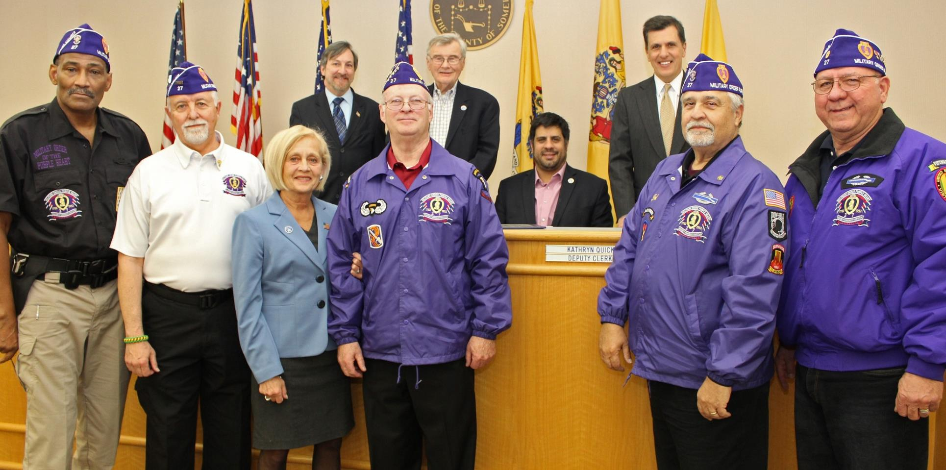 Military Order of the Purple Heart Chapter 27 thanks freeholders
