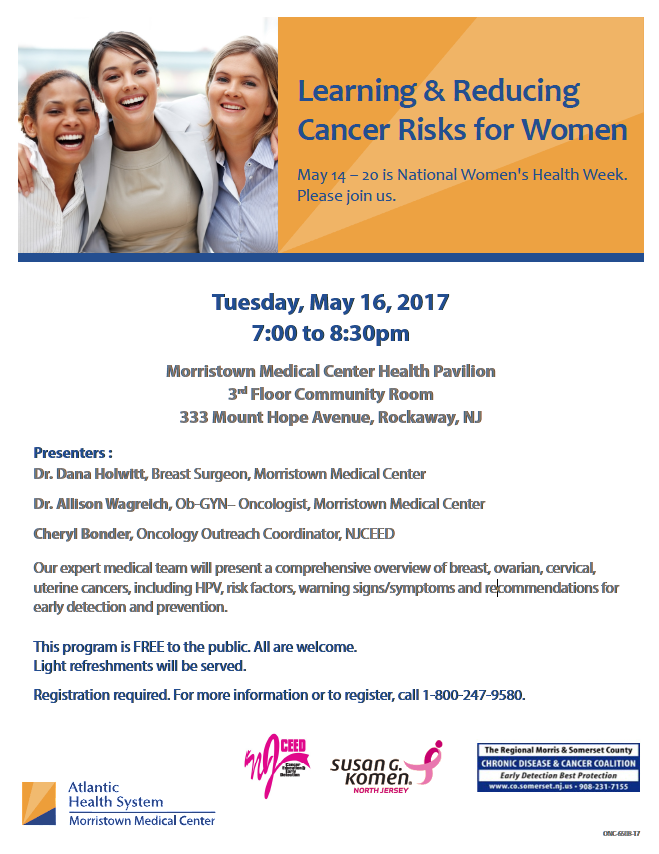 Reducing Cancer Risks for Women