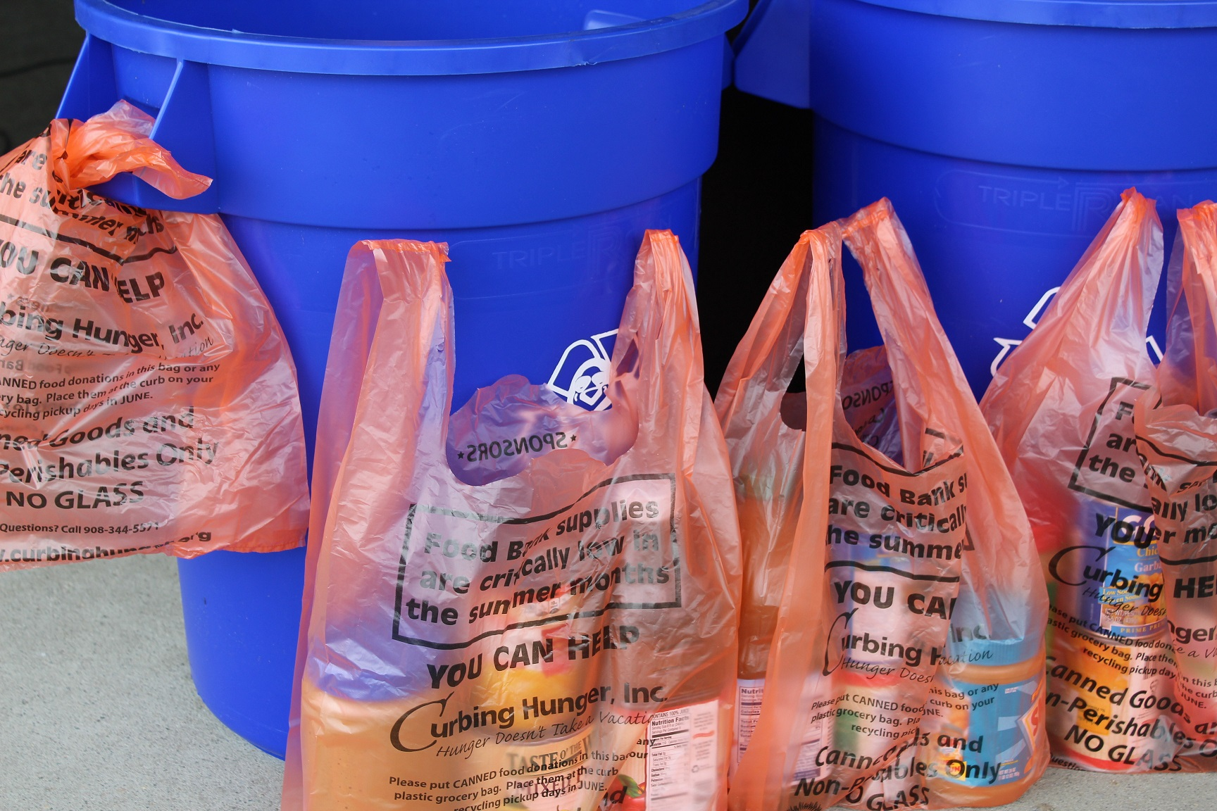 2017 Curbing Hunger Bags & Buckets