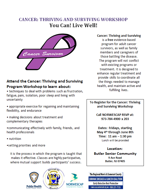 cancer thriving and surviving workshop