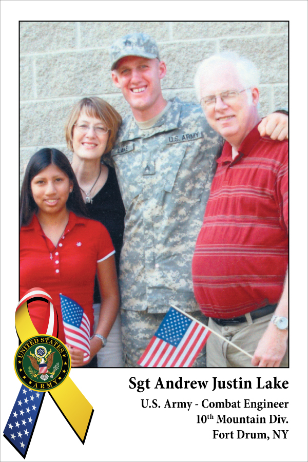 Sgt Andrew Justin Lake