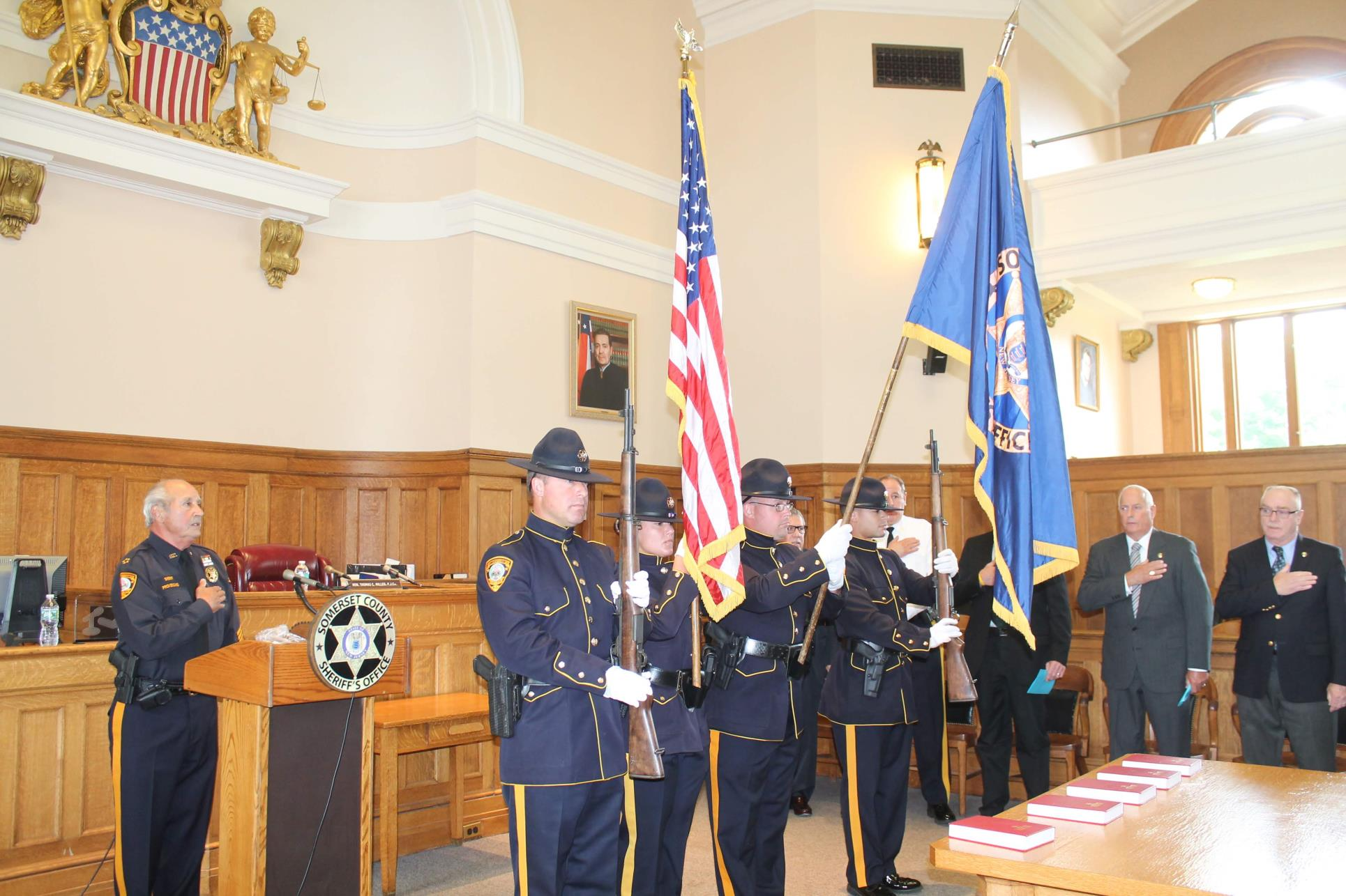 Sheriff & Honor Guard in historic courthouse