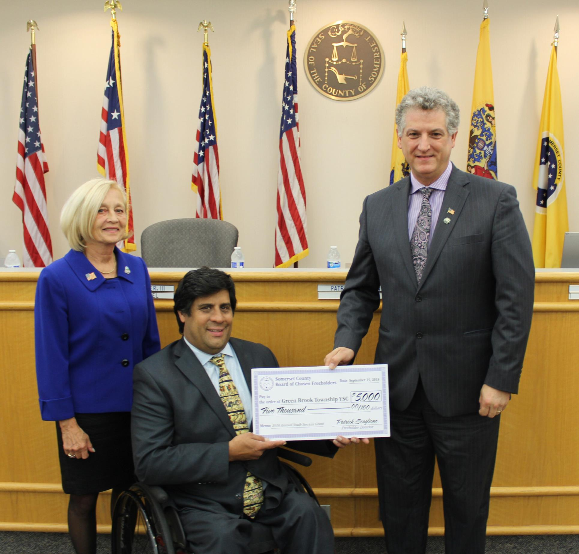 Green Brook Municipal Youth Services Commission, Ceremonial Check