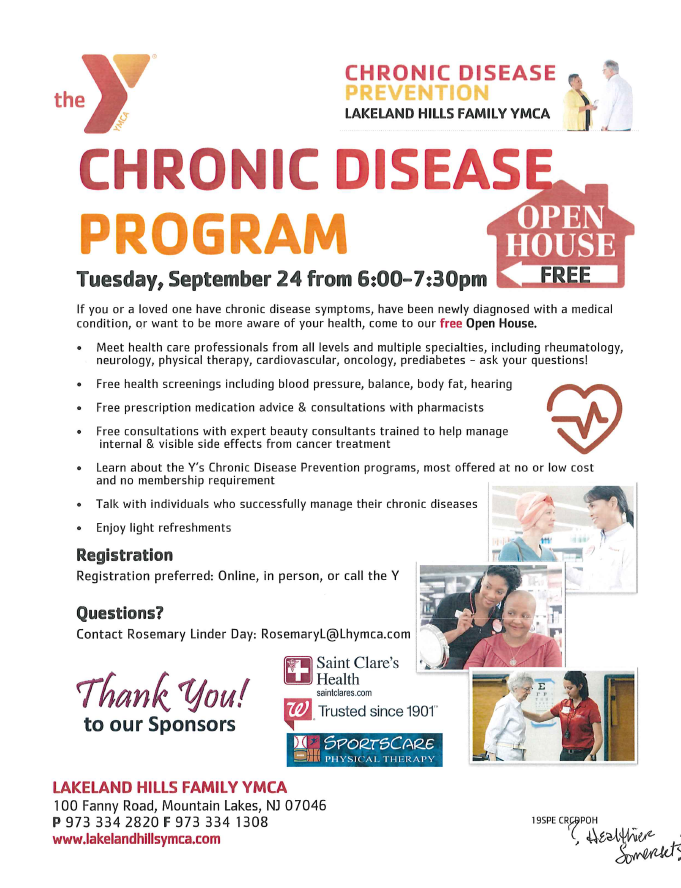 YMCA chronic disease program 9-24-19