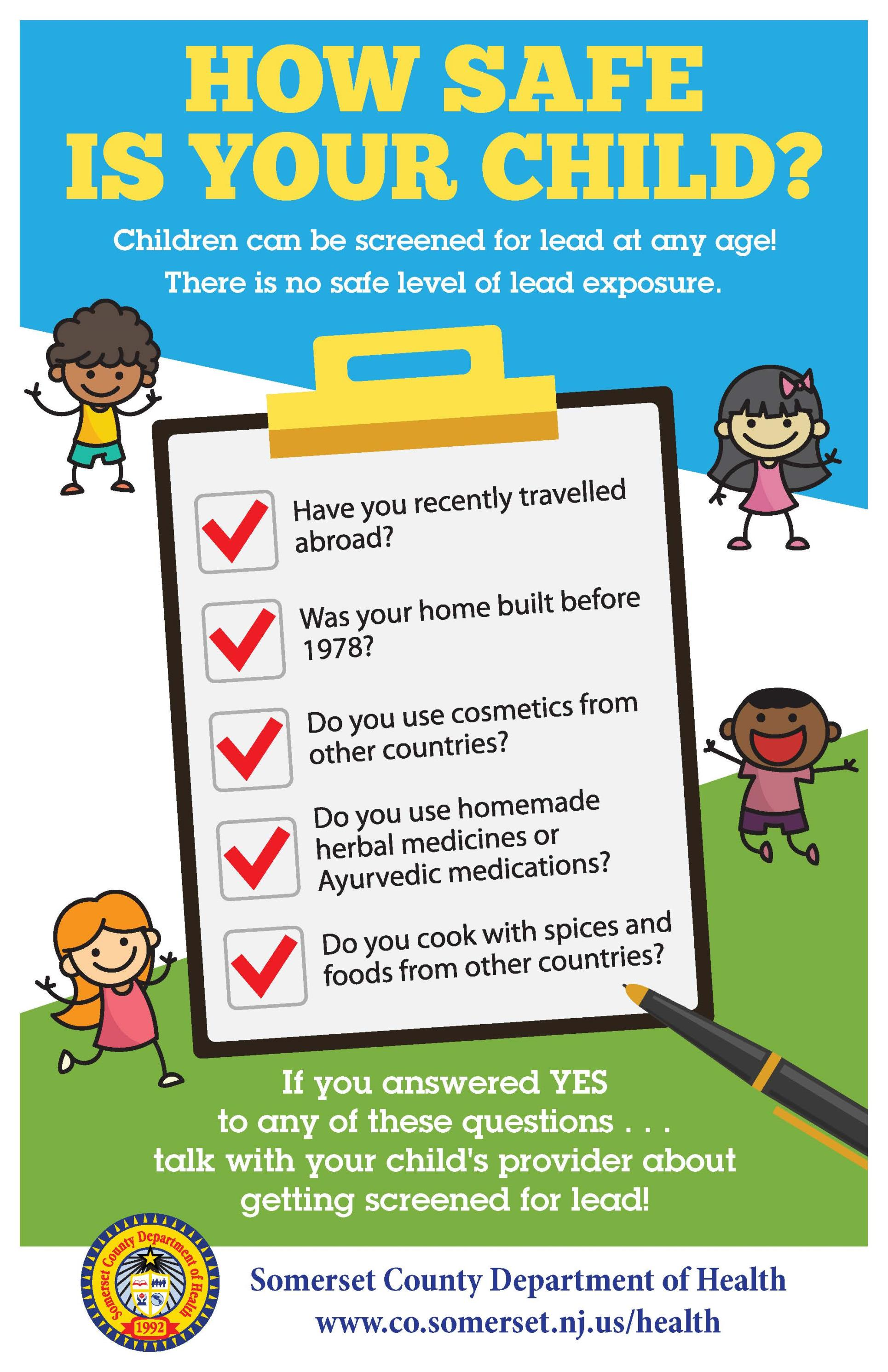 SCDOH Lead Poisoning Checklist Poster - Final